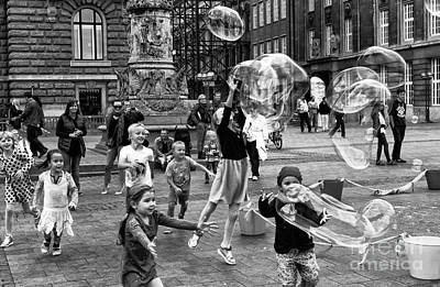 Photograph - Joy In Hamburg Mono by John Rizzuto