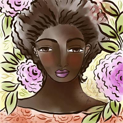 Digital Art - Joy In My Flower Garden by Elaine Jackson