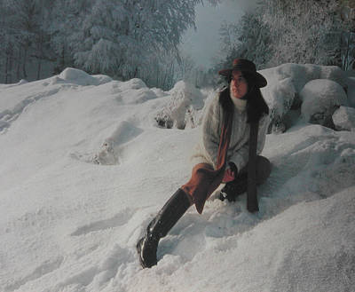 Selfportrait Photograph - Joy In The Swiss Alps by Colette V Hera  Guggenheim