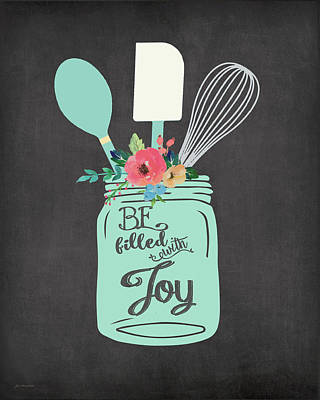 Joy Jar Art Print by Jo Moulton