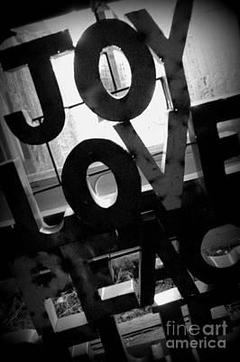Photograph - Joy Love Peace by Anjanette Douglas