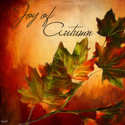 Maple Leaf Art Digital Art - Joy Of Autumn by Lourry Legarde