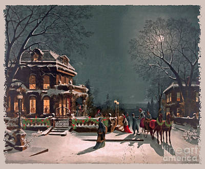 Victorian Era Digital Art - Joy Of The Season by Lianne Schneider