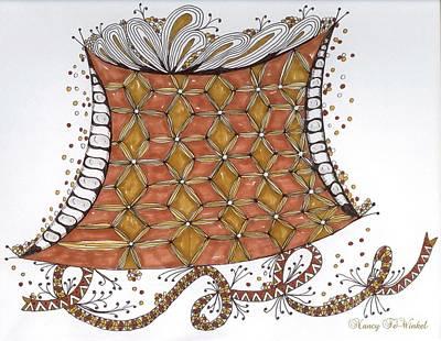 Rust Drawing - Joy Overflows by Nancy TeWinkel Lauren