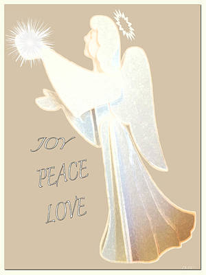Designs In Nature Mixed Media - Joy Peace Love Card by Debra     Vatalaro
