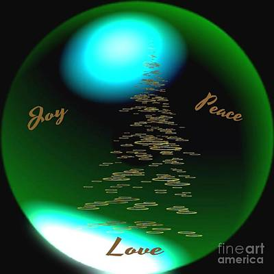 Joy Peace Love Art Print by Gail Matthews