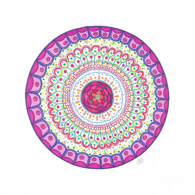 Pattern Drawing - Joy by Signe  Beatrice