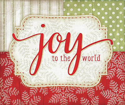 Holiday Painting - Joy To The World by Jennifer Pugh