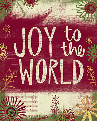 Christmas Decorations Painting - Joy To The World by Katie Doucette