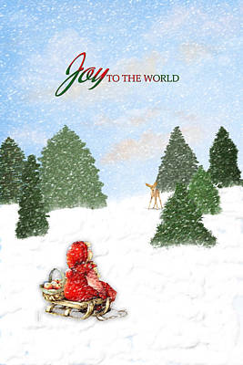 Joy To The World Painting Art Print by Mary Timman