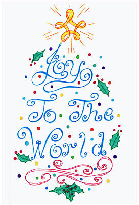 Drawing - Joy To The World by Susan Turner Soulis