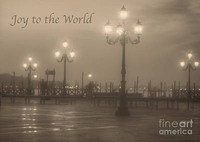 Photograph - Joy To The World With Venice Lights by Prints of Italy