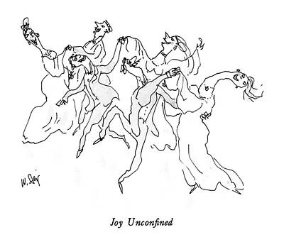 Dancing Drawing - Joy Unconfined by William Steig