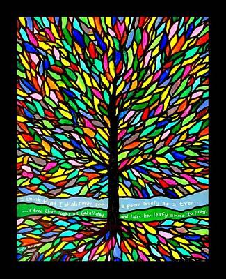 Tree Roots Painting - Joyce Kilmer's Tree by Jim Harris