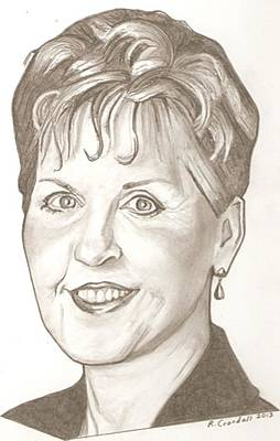 Dave Drawing - Joyce Meyer Drawing by Robert Crandall
