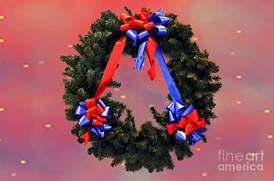 Photograph - Joyeux Noel Wreath by Luther Fine Art