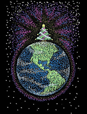 The Universe Drawing - Joyful Joyful by Keiko Katsuta