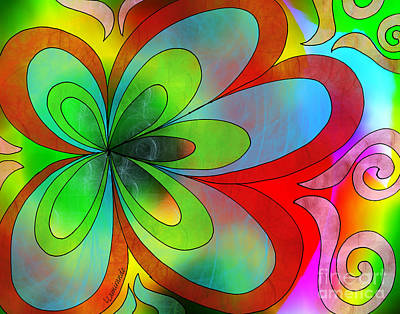 Digital Art - Joyful Peace - Paix Joyeuse by Louise Lamirande