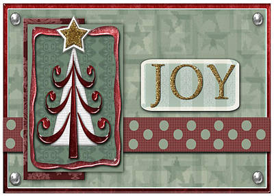 Joyful Tree Card Art Print by Arline Wagner