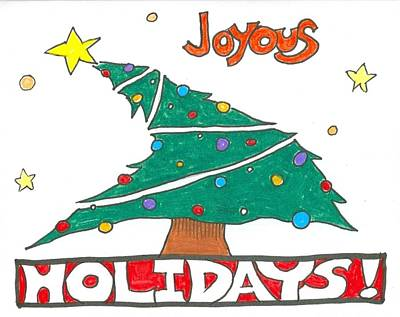 Drawing - Joyous Holidays by Ralf Schulze