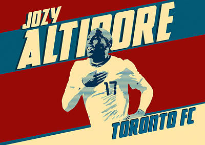 Retro Digital Art - Jozy Altidore by Taylan Apukovska