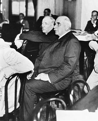 Banker Photograph - J.p. Morgan At Senate Inquiry by Underwood Archives