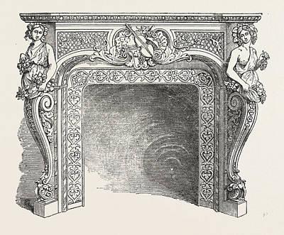 J.p. Vaudre, Chimney Piece Of Iron Art Print