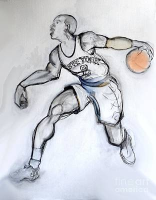 Drawing - Jr - Basketball by Carolyn Weltman