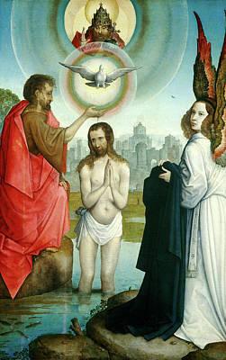 Baptism Painting - Juan De Flandes, The Baptism Of Christ, Hispano-flemish by Litz Collection