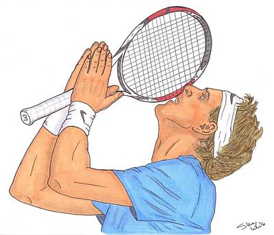 Australian Open Drawing - Juan Martin Del Potro by Steven White