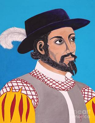 Painting - Juan Ponce De Leon by Iris  Mora