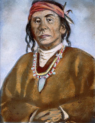 Pueblo Drawing - Juan Rey Abeita (1848-?) by Granger