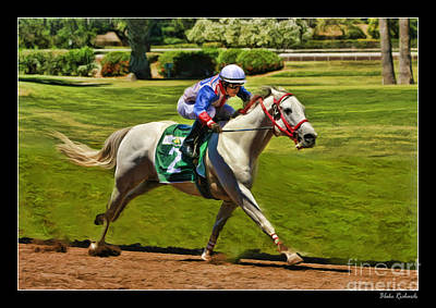 Juan Sanchez On Horse Sammy V  Art Print