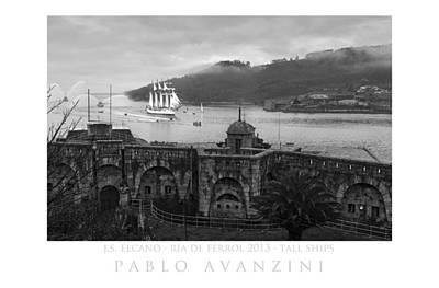 Juan Sebastian Elcano Arrival To The Port Of Ferrol Art Print