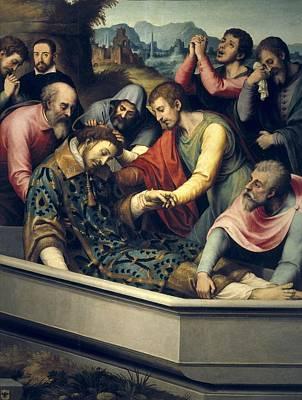 Juanes, Juan De 1523-1579. The Burial Art Print