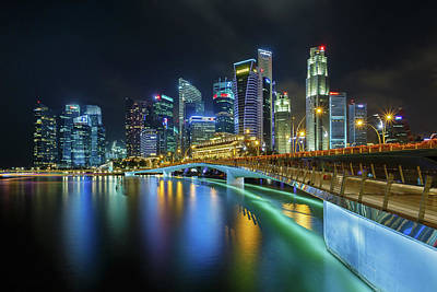 Jubilee Bridge Singapore Art Print by Photography By Spintheday