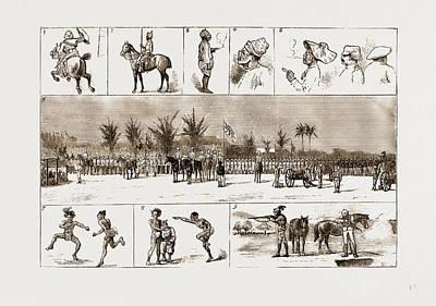 Jubilee Drawing - Jubilee Sports In Upper Burma by Litz Collection