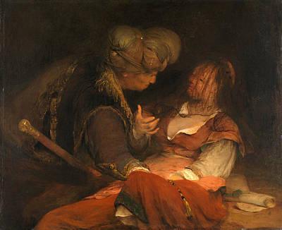 Judah Painting - Judah And Tamar by Aert de Gelder