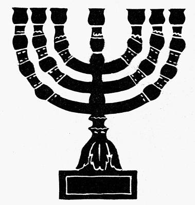 Judaism Candelabra Art Print by Granger