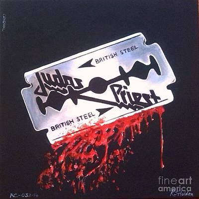 Heavy Metal Painting - Judas Priest by Richard John Holden RA