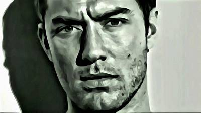 Painting - Jude Law by Florian Rodarte