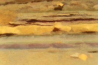 Photograph - Judean Desert Cross Section by Joseph Hedaya
