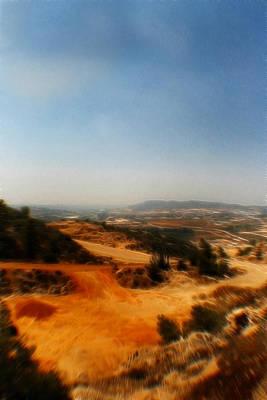 Israeli Mixed Media - Judean Hills Pop Art by Doc Braham