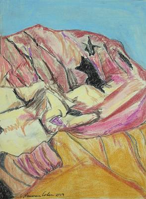 Drawing - Judean Mountain Caves by Esther Newman-Cohen