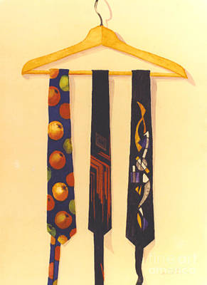 Painting - Jude's Ties by Patricia  Tierney