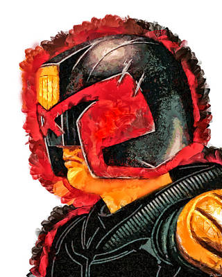 Painting - Judge Dredd by Joe Misrasi