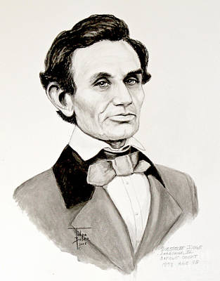 Painting - Judge Lincoln 1858 by Art By - Ti   Tolpo Bader