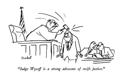 Judge Wycoff Is A Strong Advocate Of Swift Art Print by Frank Modell