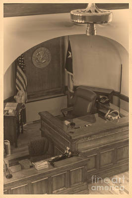Photograph - Judge's Bench In Courtroom by Imagery by Charly