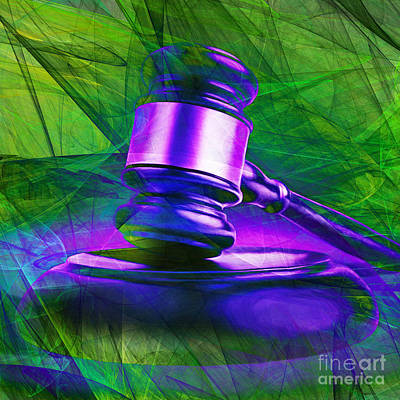 Court Room Photograph - Judges Gavel 20150225m130 V2 Square by Wingsdomain Art and Photography